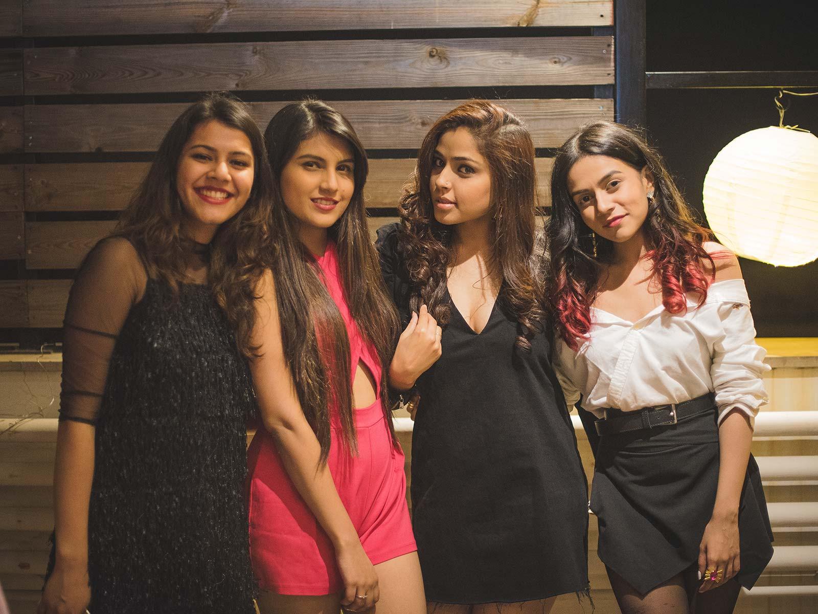 Cherry Jain, Gayatri Chhetry and Komal Pandey at the #POPxoTuns3 party