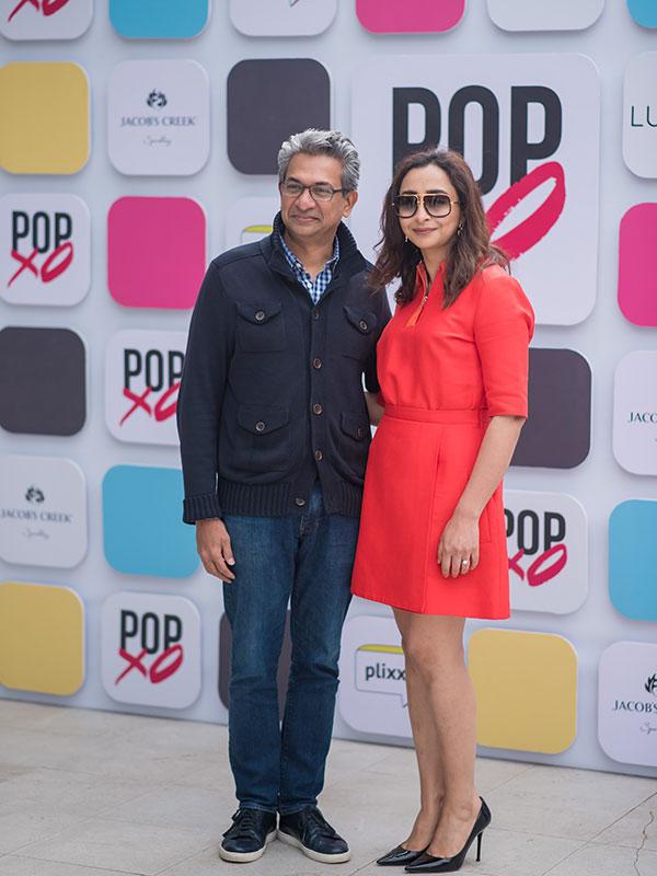 Rajan Anandan with Priyanka Gill at the #POPxoTurns5 celebration at Qla in Delhi