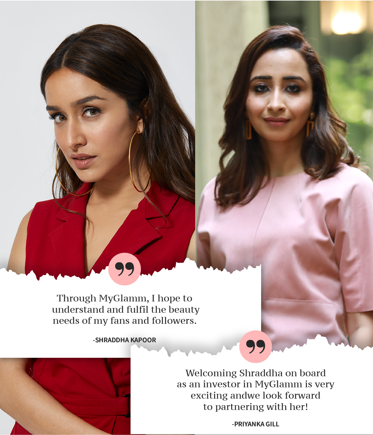 Excited To Welcome Shraddha Kapoor As She Joins The MyGlamm Family As Investor & Brand Ambassador