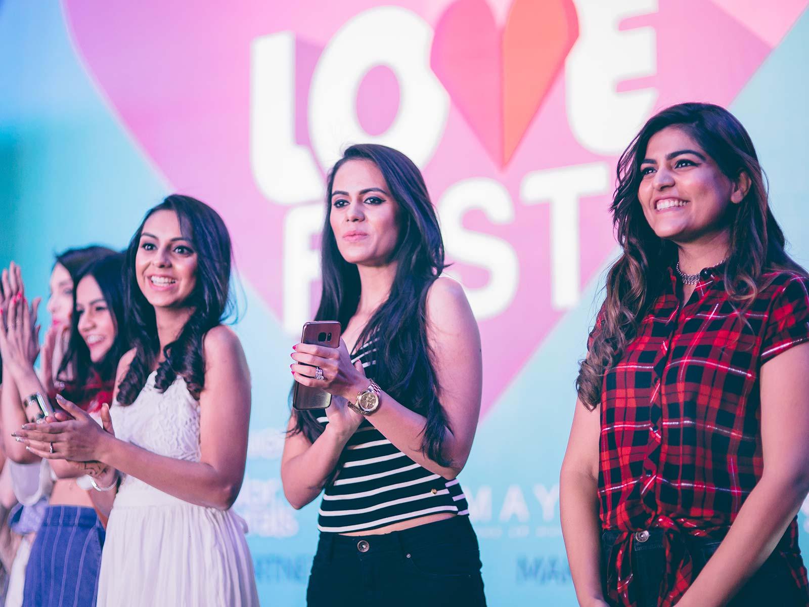 From L-to-R Devina Malhotra, Maia Sethna, Komal Pandey, Aanam C, Aakriti Rana and Kritika Khurana