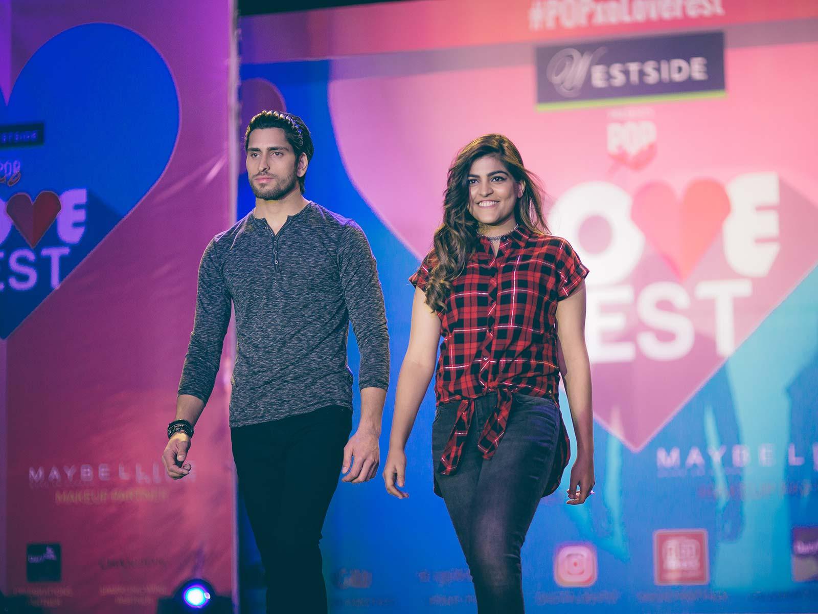 Kritika Khurana walks the ramp for Westside at the POPxo Love Fest
