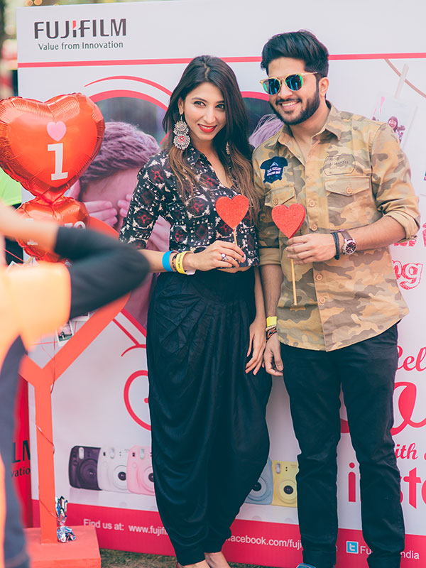 Malvika Gupta and Prateek Kelkar at the POPxo Love Fest held at One Golden Mile in Delhi