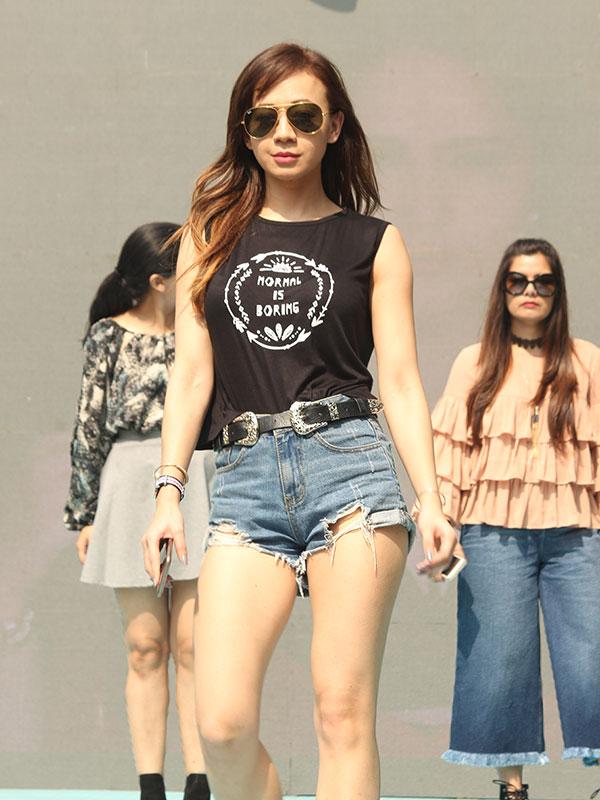 Natasha Shrotri at the fashion show rehearsal for Jabong at the POPxo Big Fab Fest held at Qla in Delhi