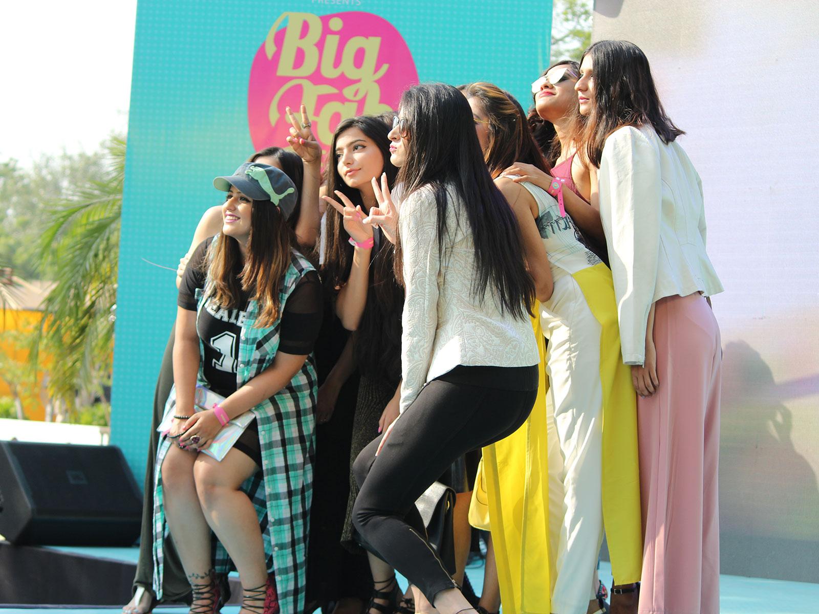 POPxo Bloggers at the POPxo Big Fab Fest held at Qla in Delhi