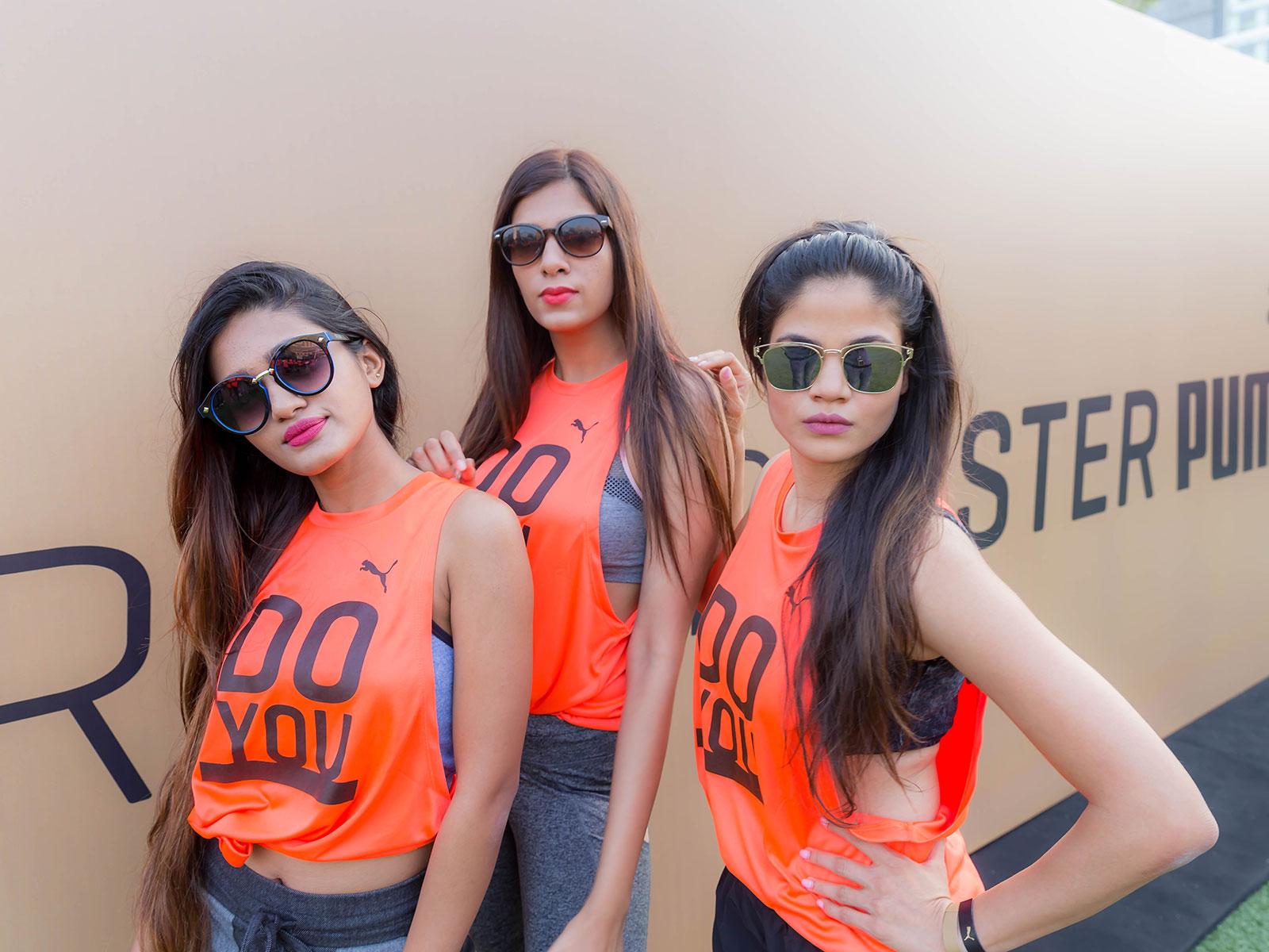 Shabnam Fathima, Rashi Mehra and Sejal at the PUMA Do You event held at Jio Garden in Mumbai