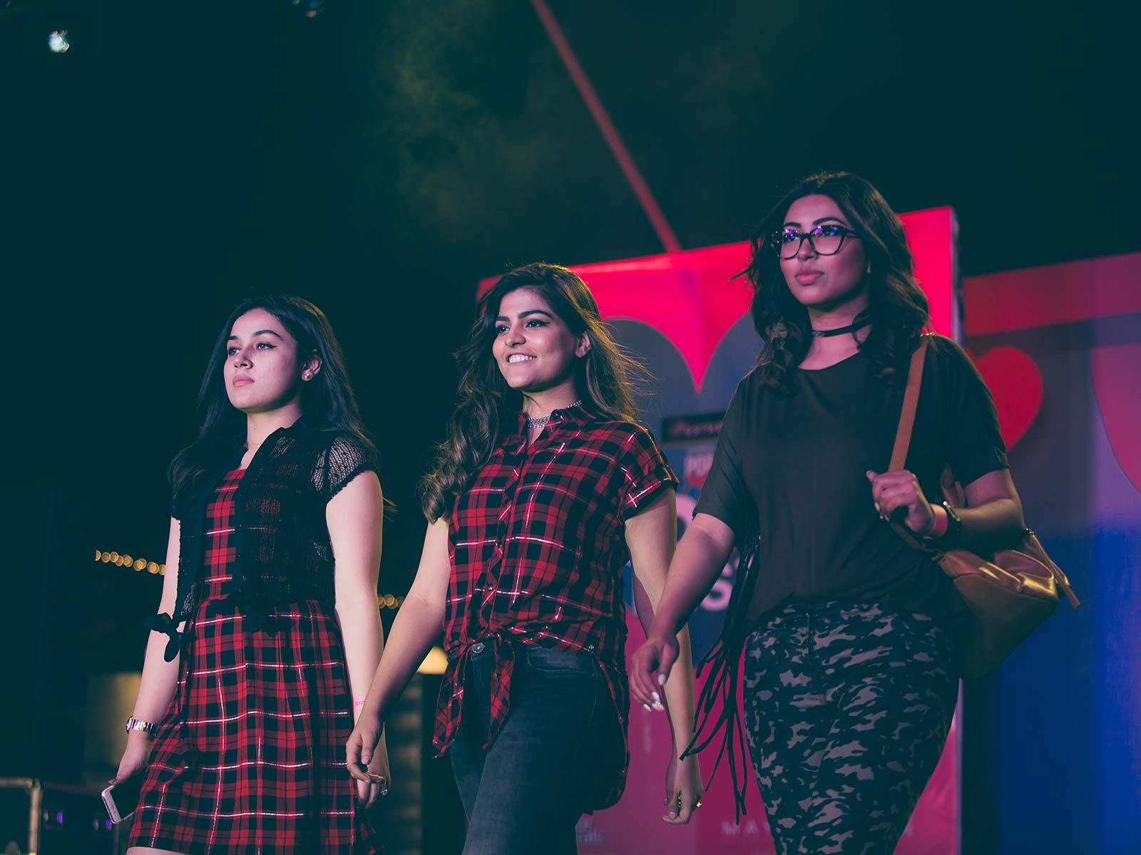 Shaily Khera, Kritika Khurana and Shristi Singh walk the ramp for Westside at the POPxo Love Fest
