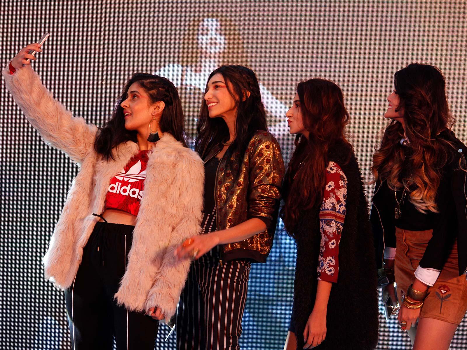 Shreya Kalra, Juhi Godambe, Aashna Shroff and Shivani Patil Srishti Singh, Nilu Yuleena Thapa, Aleena Macker and Aien Jamir at the POPxo Big Fab Fest held at Qla in Delhi