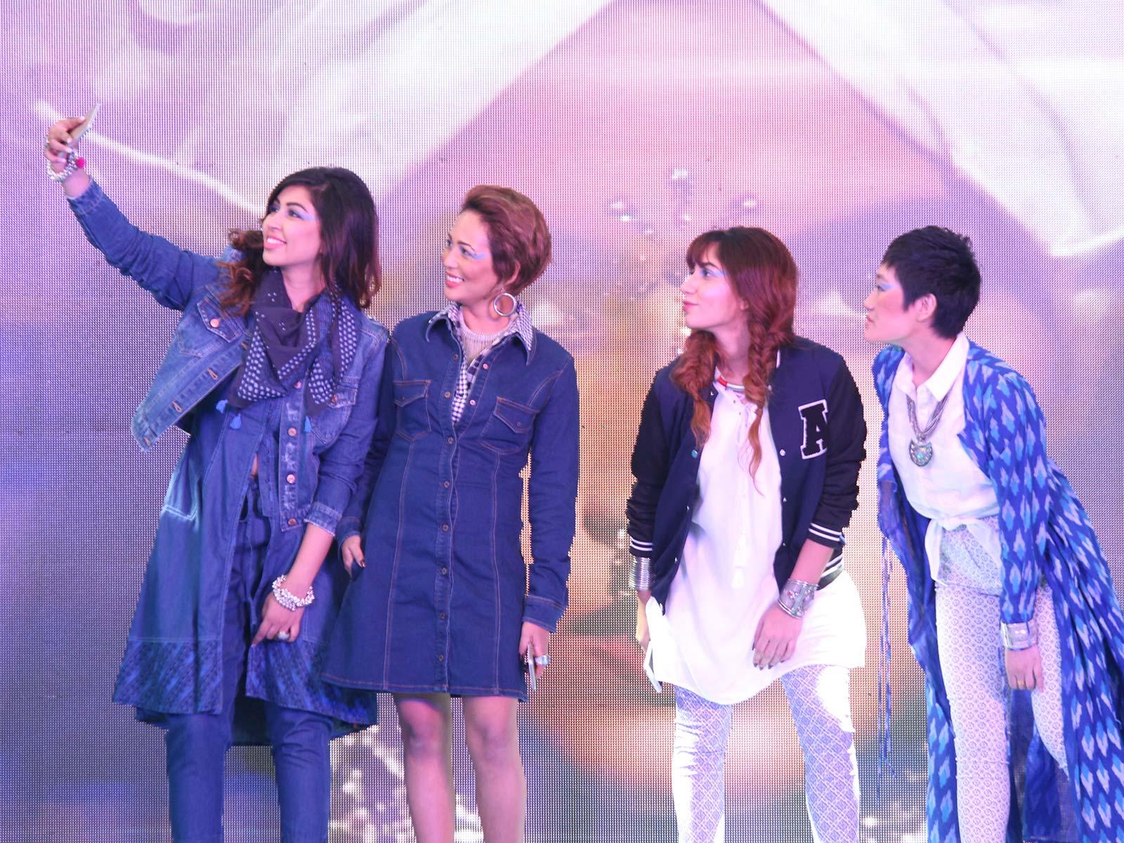 Srishti Singh, Nilu Yuleena Thapa, Aleena Macker and Aien Jamir at the POPxo Big Fab Fest held at Qla in Delhi