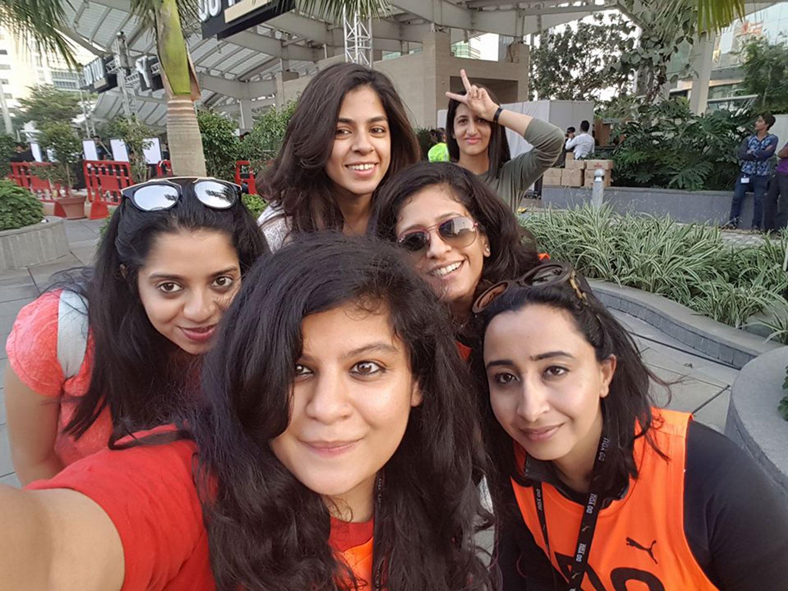 Team POPxo with Priyanka Gill at the PUMA Do You event held at Jio Garden in Mumbai